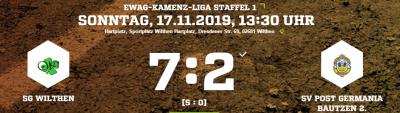 Vorschaubild zur Meldung: [SGW 1] Nach 30 min. Spiel entschieden