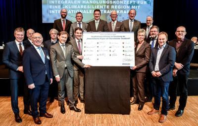 Foto zur Meldung: Emscher-Region verpflichtet sich zur Klimaanpassung
