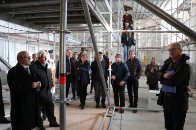 Foto zur Meldung: Gläubige bekommen ersten Einblick in die Kirchenrenovierung