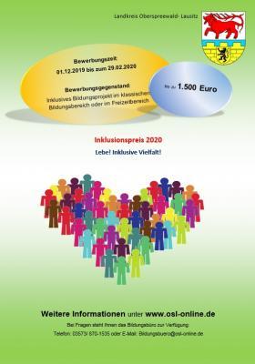 """Foto zur Meldung: """"Lebe! Inklusive Vielfalt"""": Landkreis lobt Inklusionspreis für 2020 aus"""