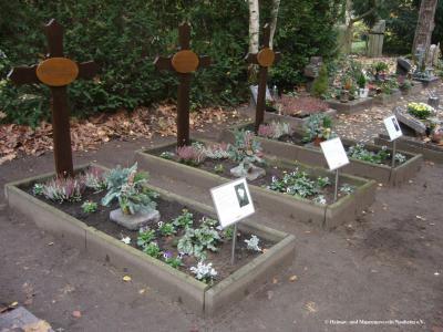 Foto zur Meldung: Heimat- und Museumsverein richtet Kriegsgräber her