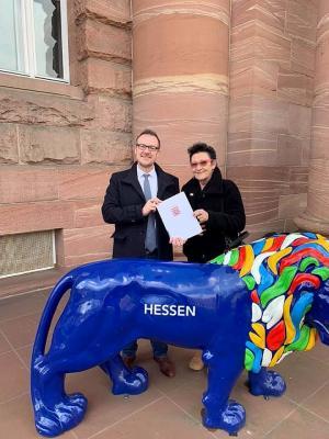 Von links: Bürgermeister Thomas Eckhardt und Stadtplanerin Sigrid Ermisch-Huj