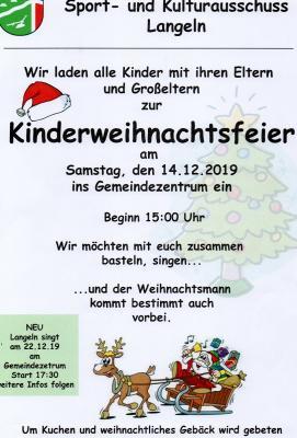 Foto zur Meldung: Kinderweihnachtsfeier in Langeln.