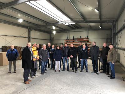 Vorschaubild zur Meldung: Baumaßnahme Ersatzneubau Lagerhalle mit Werkstatt im Bauhof HBN
