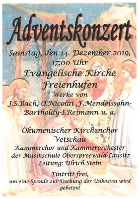 Vorschaubild zur Meldung: Adventskonzert in Freienhufen
