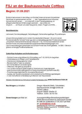 FSJ an der Bauhausschule Cottbus
