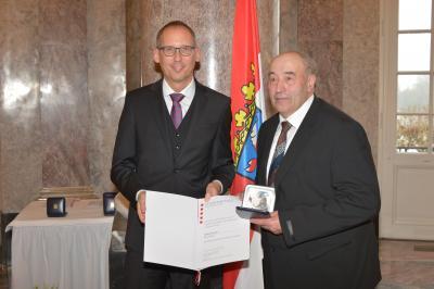 Sozialminister Kai Klose und Herbert Kinkel (Foto: e.blatt)
