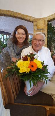 Vorschaubild zur Meldung: Maintaler Zeitzeuge Friedrich Ickes wird 95 Jahre alt