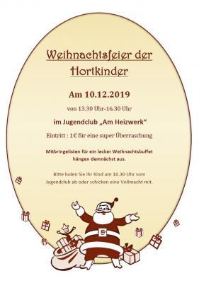 Foto zur Meldung: Weihnachtsfeier Hort Abenteuerland