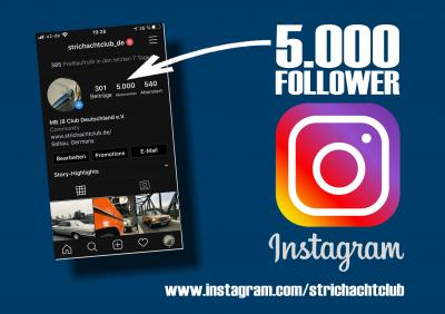 5.000 Follower bei Instagram