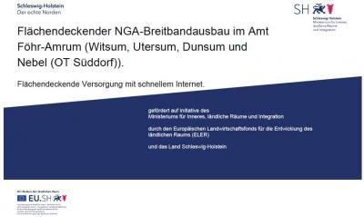 Vorschaubild zur Meldung: Glasfaserausbau in Dunsum, Utersum und Witsum