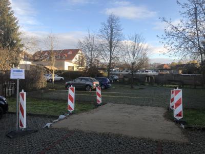 Foto zur Meldung: Zufahrt zum Rathaus und zur Bäckerei Kirstein ändert sich ab Montag