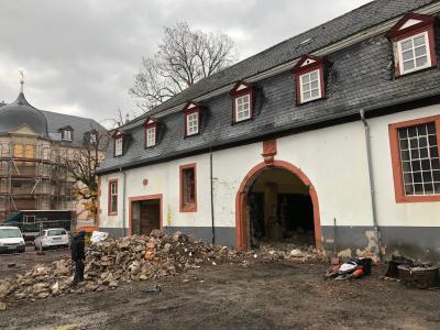 Vorschaubild zur Meldung: Der Marstall - einst Pferdestall, dann Brauereigebäude - wird jetzt saniert