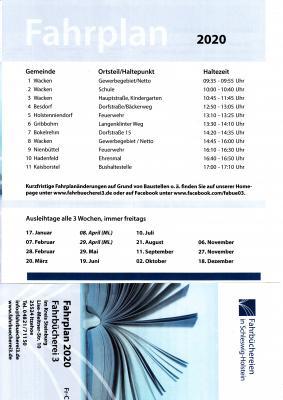 Vorschaubild zur Meldung: Der Bücherbus 2020 Termine Besdorf