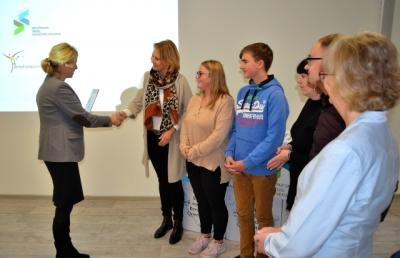 Foto zur Meldung: Berufswahlsiegel SH: Große Auszeichnung für die Anne-Frank-Gemeinschaftsschule