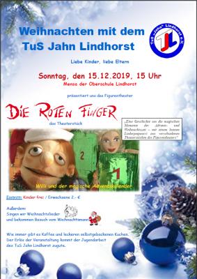 """Vorschaubild zur Meldung: Weihnachten mit dem TuS Jahn Lindhorst und den """"Roten Fingern"""""""