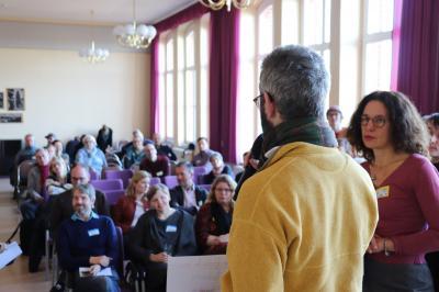 viele Gäste kamen am 30. November zum Barcamp in die Friedrich-Ludwig-Jahn-Grundschule I Foto: Martin Ferch