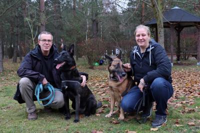 Foto zur Meldung: Am 28.11.2019 freute sich das Tierheim-Team über den Besuch von Boomer (ehemals Bruce)