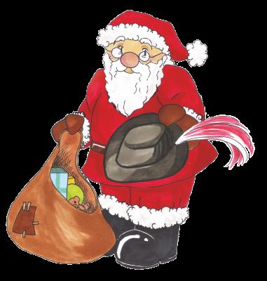 Pfingstburschen Weihnachtsmann