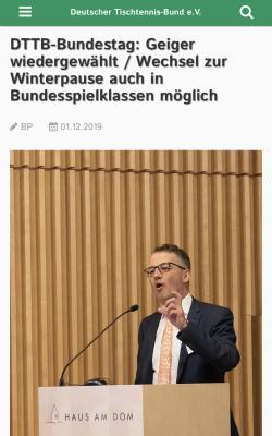 Vorschaubild zur Meldung: Revolutionäre Beschlüsse beim DTTB-Bundestag