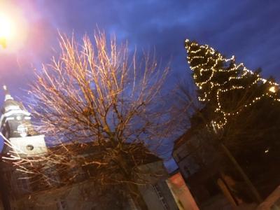 Weihnachtsbaum auf dem Klostervorplatz