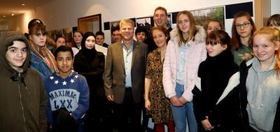 Foto zur Meldung: Schülerausstellung zum Klimawandel im Lehniner Rathaus