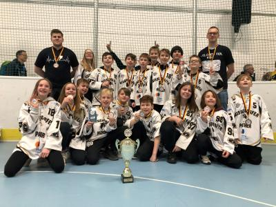 Vorschaubild zur Meldung: Wir gratulieren der U13 der Bissendorfer Panther zum dritten Platz bei der deutschen Meisterschaft!