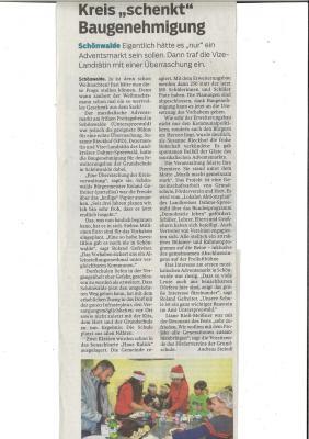 Artikel der Lausitzer Rundschau vom 02.12.2019