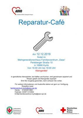 """Reparatur Cafè Familienzentrum """"Oase"""" Kyritz"""