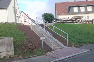 """Neubau der Treppe """"Mittelfeldweg / Friedrichstraße"""" im OT Großenlüder"""