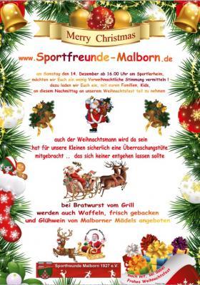 Foto zur Meldung: Weihnachtsfest am Sportlerheim