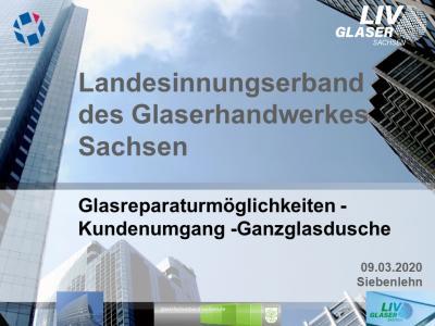Vorschaubild zur Meldung: Weiterbildungsveranstaltung der Glaser in Sachsen am 09.03.2020