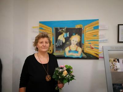 Foto zur Meldung: Neue Ausstellung im Rathaus von Frau Samberger-Löfflad
