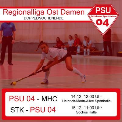 Vorschaubild zur Meldung: Doppelwochenende: Regionalliga Ost Hockeydamen