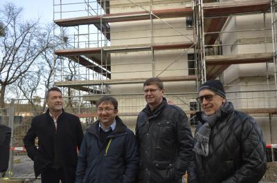 Klaus Prietzel, Jens Bönold, Siegurd Heinze, Josef Maier (Bauherr)