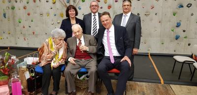 Foto zur Meldung: 100. Geburtstag Gilbert Sauvan – Ehrenbürger der Gemeinde Willingshausen
