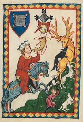 Ein adliger bei der Jagd. Abbildung aus dem Codex Manesse, UB Heidelberg.