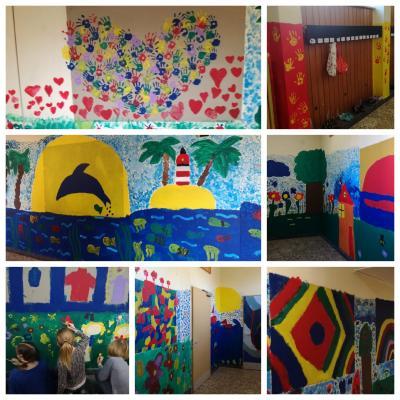 Vorschaubild zur Meldung: Kunstprojekt - Verschönerung der Schulflure