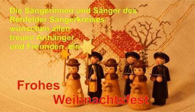 Foto zur Meldung: Weihnachtswünsche des Rehfelder Sängerkreises