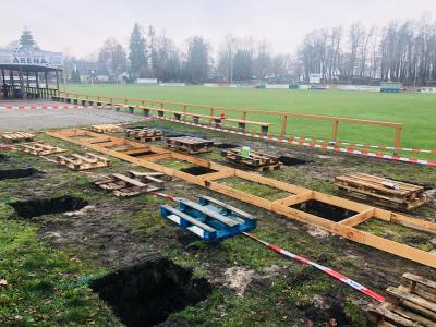 Foto zur Meldung: Der Sportplatz Birkenallee erhält demnächst Sanitärcontainer