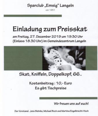 Foto zur Meldung: Sparclub »Emsig« Langeln Preisskat