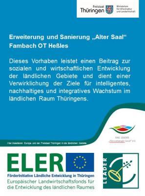 """Vorschaubild zur Meldung: Erweiterung und Sanierung """"Alter Saal"""" Fambach OT Heßles"""