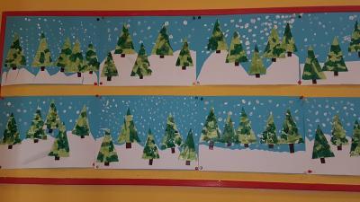 Tannenbäume im Schnee