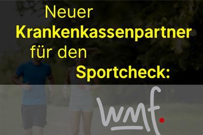 Neuer Partner für den Sportcheck: die WMF Betriebskrankenkasse