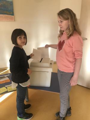"""Foto zur Meldung: Kinderratswahl im Hort """"Am alten Schloß"""""""