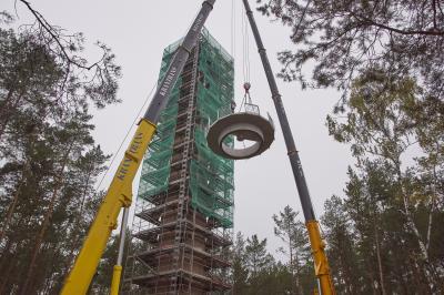 "Foto zur Meldung: Projekt Aussichtsturm ""Calauer Schweiz"" nimmt immer konkretere Formen an"
