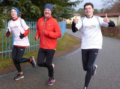 Foto zur Meldung: Neujahrsläufer starten in Laage