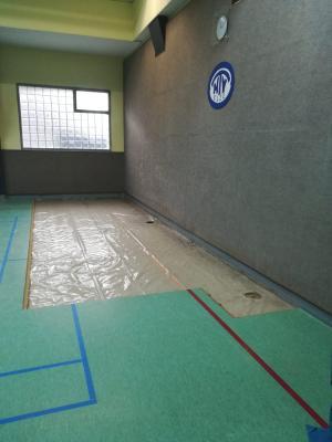 Öffnung des Fußbodens am 09.12.2019