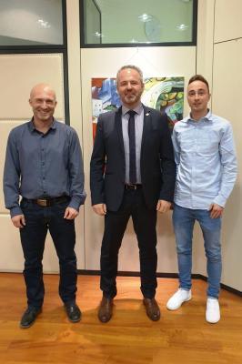 v. li.: Andreas Fritz, Bürgermeister Maik Brandt, Kai Wille
