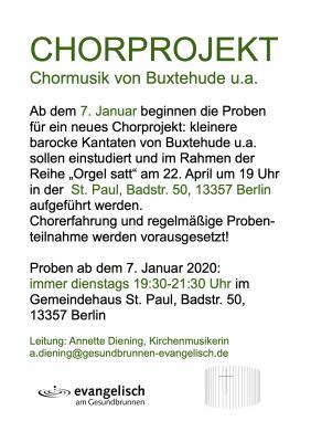 """Vorschaubild zur Meldung: Neues Chorprojekt in der Region """"Am Gesundbrunnen"""""""
